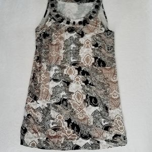 Medium Style & Co Layered Sleeveless Dress